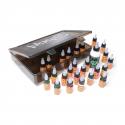 Eternal Ink Reis Set - 25x 15ml (1/2oz) Inkt + 1x 120ml (4oz) Stencil Benodigdheden in Sullen Clothing Blaq Paq Doos