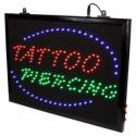Ophangbare (met Ketting) Tattoo Studio Tattoo + Piercing LED Bord