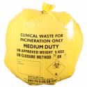 Doos met 50 Gele Klinisch Afval Zakken