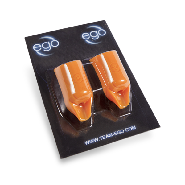 Pak met 2 Siliconen EGO Biogrips (STRAIGHT) in Oranje - Tot 19MM Tubes