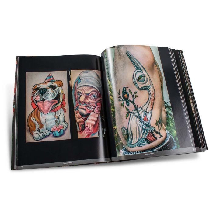 Boek: Color Tattoo Art: Comics, Cartoon, Pin-Up, Manga + New School - Edition Reuss