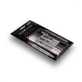 Copic CIAO Markers - Grey Tones - Pak met 5+1