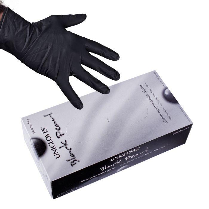 Doos met 100 Uniglove Black Pearl Nitril Handschoenen