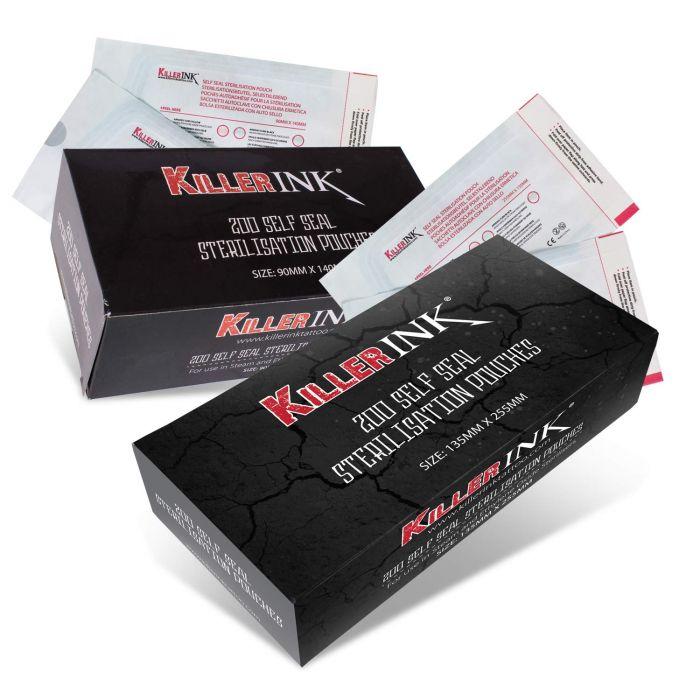 Doos met 200 Killer Ink Autoclaaf Zelf Sealende Sterilisatie Zakjes
