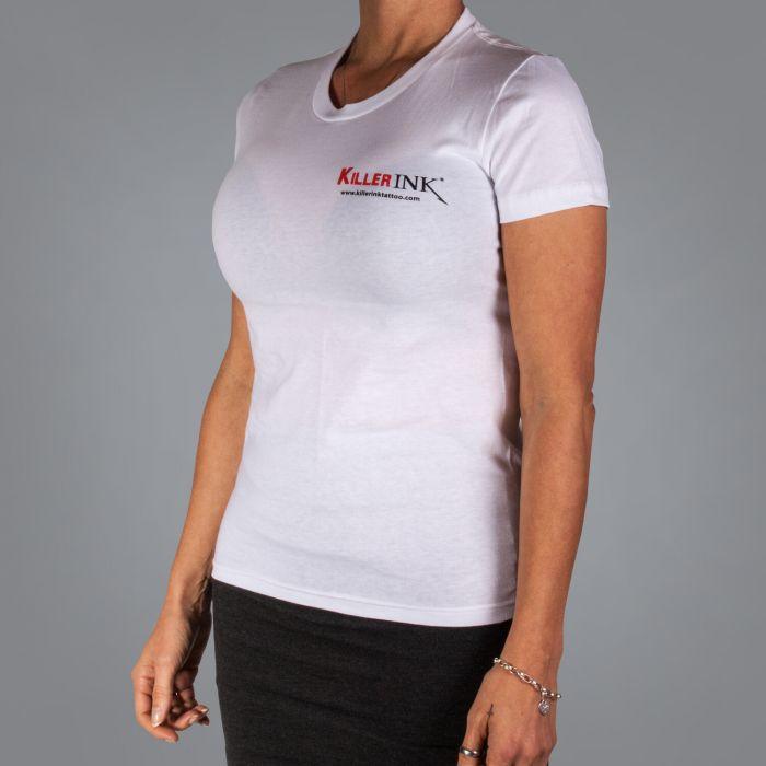 Killer Ink Dames T-Shirt - Wit