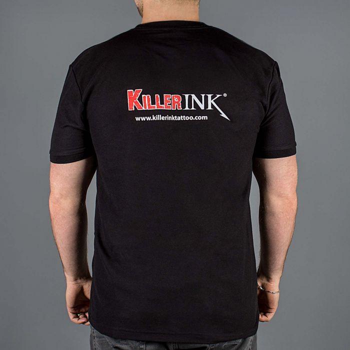 Killer Ink Ronde Nek T-Shirt in Zwart