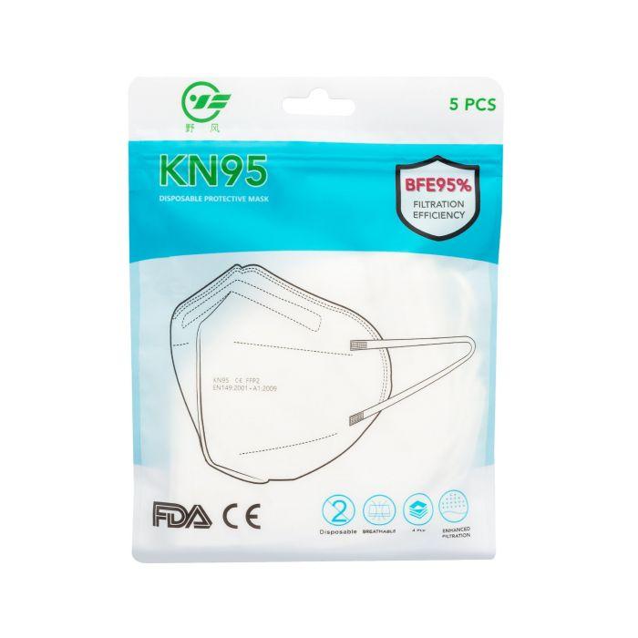 Set van 5 KN95 chirurgische maskers
