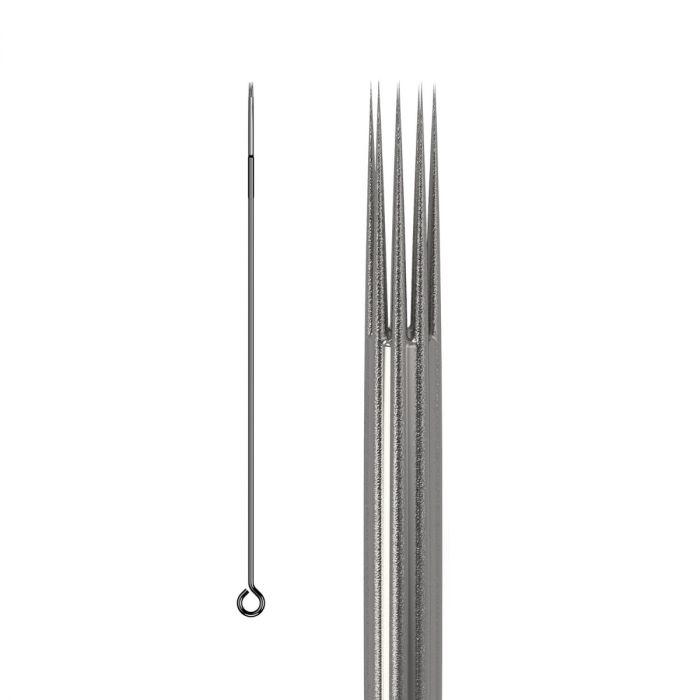 Doos met 50 KWADRON Naalden 0.35MM LONG TAPER BUGPIN TEXTURED - Round Shader