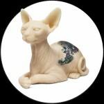 Silicone Sphynx Cat & Inkenstein om op te tattoeeren